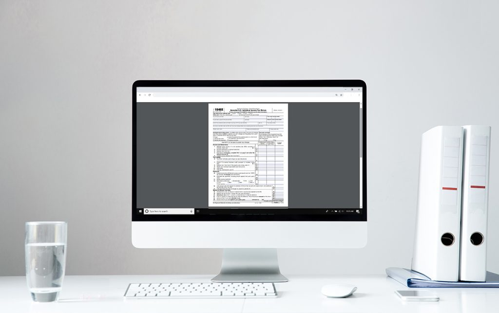 Tax Document on Computer